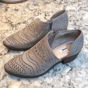 Cute Taupe Cutout Shoes Size 8 EUC